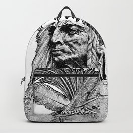 Chief / Vintage illustration redrawn and repurposed Backpack