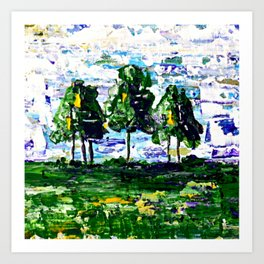 A Cluster of Trees Art Print