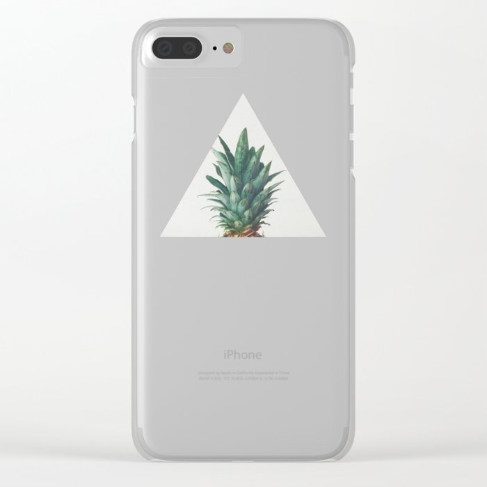 reputable site d1167 4881a Pineapple Top Clear iPhone Case by cassiabeck