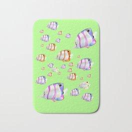 Tropical fish lime edition Bath Mat