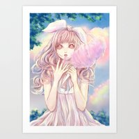 Candy clouds of lullaby Art Print