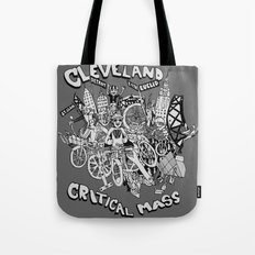 Cleveland Critical Mass Poster Tote Bag