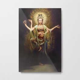 Quan Yin, The Mother and Goddess of Compassion  Metal Print