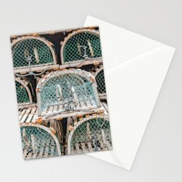 Readying for the lobster season Stationery Cards