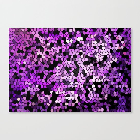 STAINED GLASS PURPLES Canvas Print