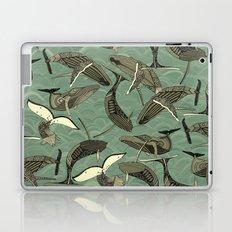 whales and waves aqua Laptop & iPad Skin