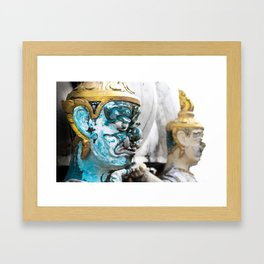 Buddhist Temple Demon Framed Art Print
