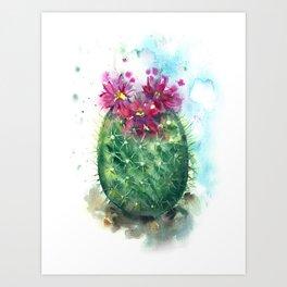 Cactus Egg Art Print
