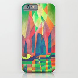 Sea of Green With Cubist Abstract Junks iPhone Case