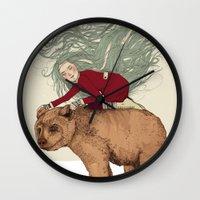 winter Wall Clocks featuring Winter by Sandra Dieckmann