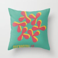chemistry Throw Pillows featuring Chemistry 10 by lynseycreative