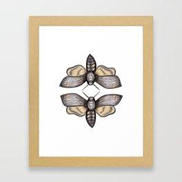 Death's Head Hawkmoth Pattern - Katrina Niswander Framed Art Print