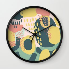 Hide and seek #vectorart #graphic #pattern #joy Wall Clock