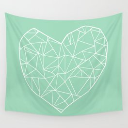 Abstract Heart Mint Wall Tapestry