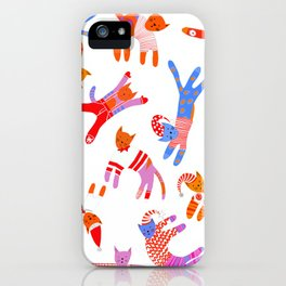 Oh Cats in Hats, it's Christmas! iPhone Case