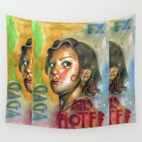 ahs Wall Tapestries featuring AHS Hotel-LadyGaga as Young Elizabeth by Abhivision