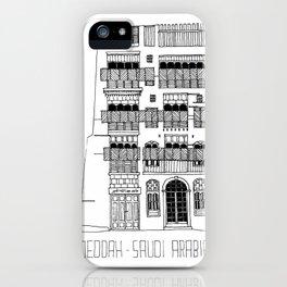 Jeddah AlBalad Souq AlJami Facade BW Saudi Arabia iPhone Case