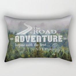 The Road To Adventure Rectangular Pillow