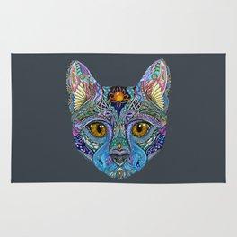 Mystic Psychedelic Cat Rug