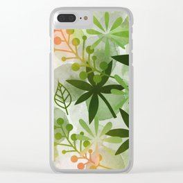Peaches and Greens Clear iPhone Case