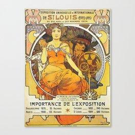Alphonse Mucha World's Fair St Louis Missouri 1904 Canvas Print