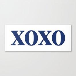 Navy XOXO Canvas Print