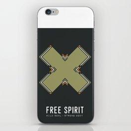 Free Spirit, Wild Soul, Strong Body iPhone Skin