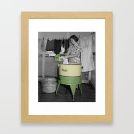 Vintage Washing Machine Framed Art Print