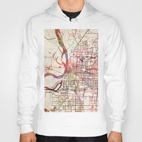 memphis Hoodies featuring Memphis by MapMapMaps.Watercolors