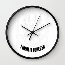 THE TITLE POLICE OFFICER Wall Clock