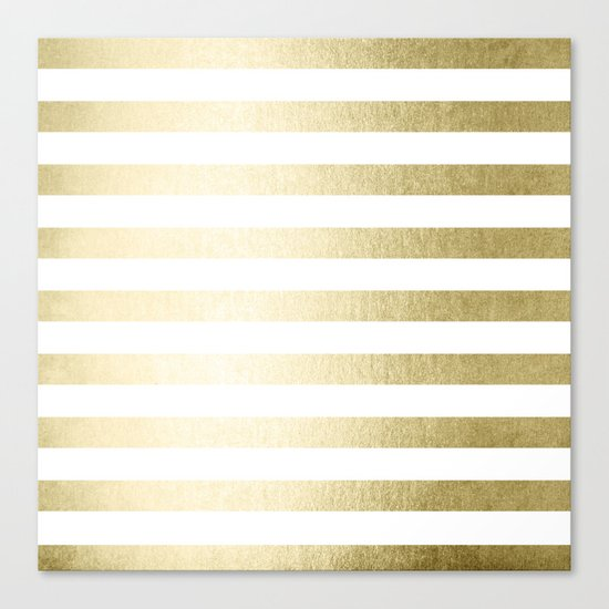 Simply Striped Gilded Palace Gold Canvas Print