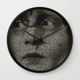Edward Scissorhands Screenplay Print Wall Clock