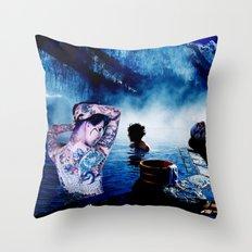 Onsen Throw Pillow