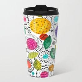 Floral Fun Metal Travel Mug