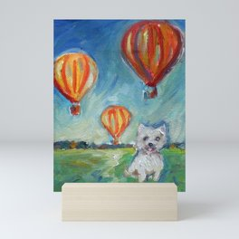 Westie eyes Hot Air Balloons Mini Art Print