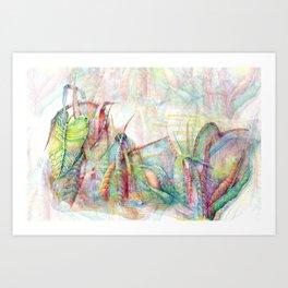 Vegetal color chaos Art Print