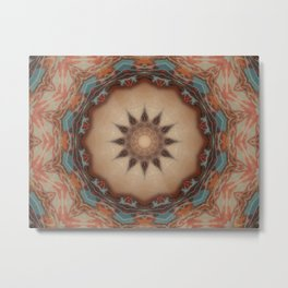 pastel mandals art147 mand 32 Metal Print