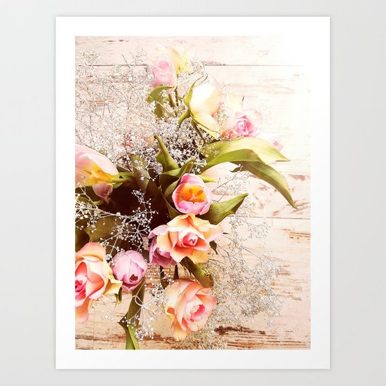 Life is better with flowers Art Print