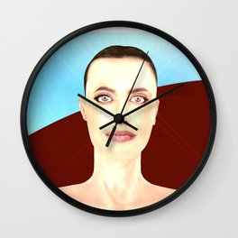 Angel Red Wall Clock