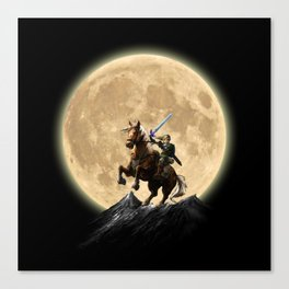 The Legend Of Zelda Full Moon Canvas Print