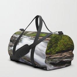 Rush - Paradise River Rushes to Falls in Mt. Rainier National Park Duffle Bag