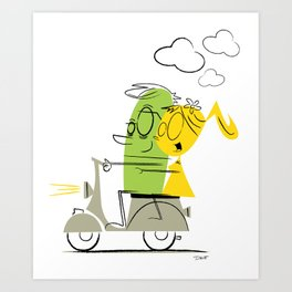 scooter ride! Art Print