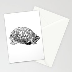 box turtle drawing Stationery Cards
