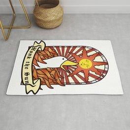 honk the sun Rug