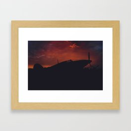 Fiery Hurricane Framed Art Print