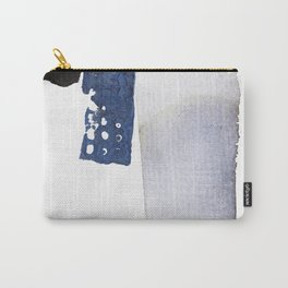 Navy Blue Abstract Carry-All Pouch