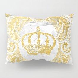 White Peonies Crown Pillow Sham