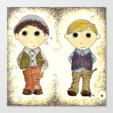 The Twins: Hugo & Harry Canvas Print