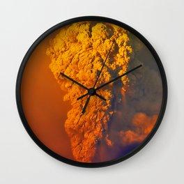Volcano Calbuco Wall Clock