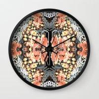 fancy Wall Clocks featuring Fancy by Ella Kirk